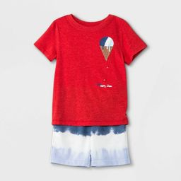 Toddler Boys' Ice Cream Short Sleeve T-Shirt and French Terry Tie-Dye Shorts Set - Cat & Jack™ ... | Target