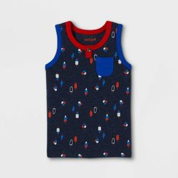 Toddler Boys' Americana Popsicle Print Knit Tank Top - Cat & Jack™ Navy | Target