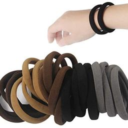 20 PCS Large Seamless soft Hair Ties Band for Thick and Curly Hair bulk | Amazon (US)