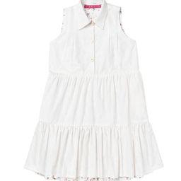 Reversible Tiered Mini Dress - White Textured Cotton & Floral - PRE-SALE | Shop BURU