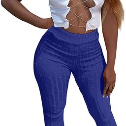 Forwelly Women Skinny Pencil Pant Elastic High Waist Wrapped Hip Leggings Fashion Solid Color Tro... | Amazon (US)