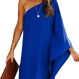 Sidefeel Women Off Shoulder Ruffles Bodycon Mini Dress   Amazon (US)