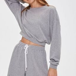 French Terry Pullover & Shorts Set   Forever 21 (US)