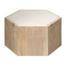 Small Argon Hexagon Side Table | Horchow