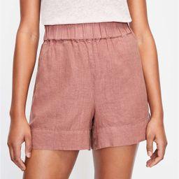 Lou & Grey Linen Pull On Shorts   LOFT   LOFT