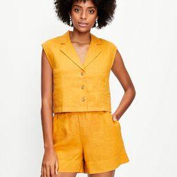 Lou & Grey Linen Cap Sleeve Shirt   LOFT   LOFT