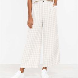 Lou & Grey Gingham Linen Wide Leg Pants | LOFT | LOFT