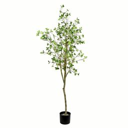 Artificial Milan Leaf Tree in Pot | Wayfair Professional
