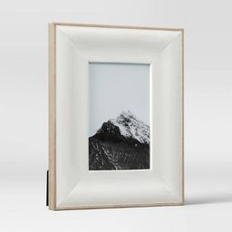"4"" x 6"" Wide Woodgrain Picture Frame Art White - Threshold™ | Target"