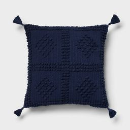 Square Textured Throw Pillow Navy - Threshold™ | Target