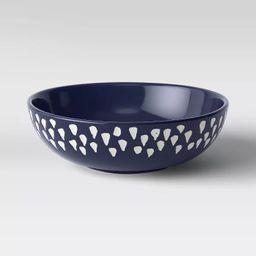"3"" x 9"" Decorative Ceramic Bowl White/Blue - Opalhouse™ | Target"