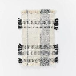 Laurelhurst Indoor/Outdoor Plaid Rug Black/White - Threshold™ designed with Studio McGee | Target