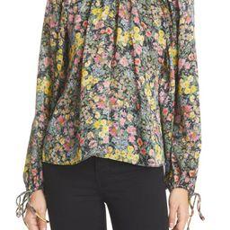 LoveShackFancy Nessa Floral Raglan Blouse | Nordstrom | Nordstrom