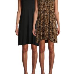 Time and Tru Women's Sleeveless Knit Dress, 2-Pack | Walmart (US)
