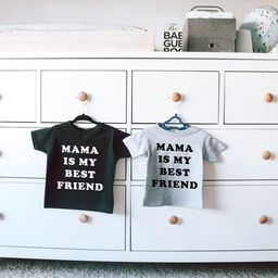 """Mothers Day gifts - Baby T-shirt saying """"Mama is my best friend""""   Etsy (US)"""