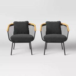 Bangor 2pk Patio Club Chair - Black - Project 62™   Target