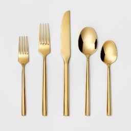 5pc Stainless Steel Izon Mirror Flatware Set Gold - Project 62™ | Target