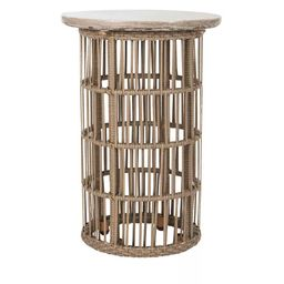 Fane Modern Concrete Round Side Table - Dark Gray - Safavieh   Target