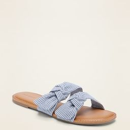 Asymmetric Double-Bow Slide Sandals for Women | Old Navy (CA)