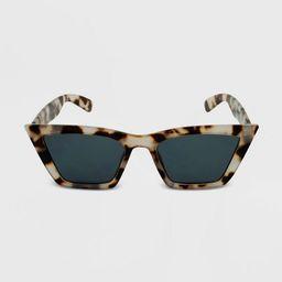 Women's Tortoise Shell Print Cateye Sunglasses - Wild Fable™ Brown | Target