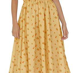 R.Vivimos Womens Summer Floral Print Puff Sleeves Vintage Ruffles Midi Dress   Amazon (US)