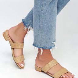 Decker Natural Woven Slide Sandals | Lulus (US)