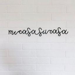Mi Casa Su Casa Sign, Mi Casa Su Casa, Mi Casa Su Casa Wall Art, Black Metal Wire Wall Art, Metal... | Etsy (US)