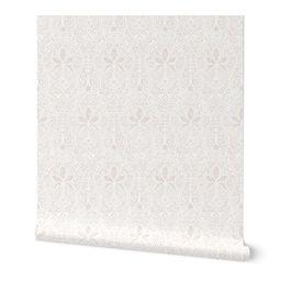 Wallpaper Rajkumari ~  Aurore on White ~  Batik | Spoonflower