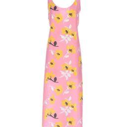 Marni Pink Sleeveless Floral Dress - ShopBAZAAR | Shop BAZAAR