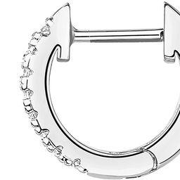 PAVOI 14K Gold Plated Cubic Zirconia Cuff Earrings Huggie Stud | Amazon (US)