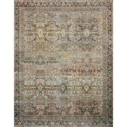 LOLOI II Layla Olive/Charcoal 7 ft. 6 in. x 9 ft. 6 in. Traditional 100% Polyester Runner Rug-LAY...   The Home Depot