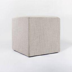 Lynwood Square Upholstered Cube - Threshold™ designed with Studio McGee | Target