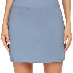 Ekouaer Women's Active Performance Skort Lightweight Skirt for Running Tennis Golf Workout Sports   Amazon (US)