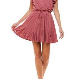 Flutter Sleeve Godet Dress | Nordstrom Rack