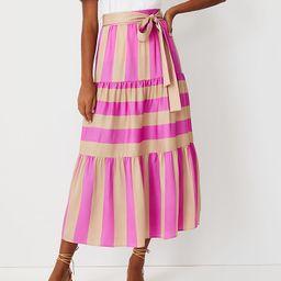 Striped Tie Waist Maxi Skirt | Ann Taylor (US)