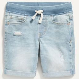 Karate Rib-Knit Waist Ripped Jean Shorts for Toddler Boys   Old Navy (US)