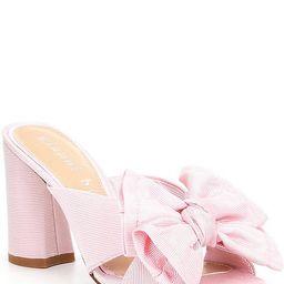 Keily Bow Detail Block Heel Mules | Dillards