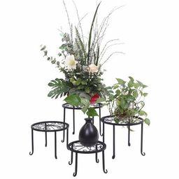 Akoyovwerve 4pcs Metal Plant Stands Flower Plant Pot Rack for Outdoor/Indoor Garden Patio Decor | Walmart (US)
