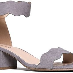 J. Adams Suede Open Toe Ankle Strap Sandal - Trendy Kitten Heel Shoe - Low Block Formal Heel - Mi...   Amazon (US)