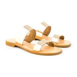 Leather Slide Sandal | Cocobelle