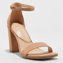 Women's Ema High Block Square Toe Sandals - A New Day™ | Target