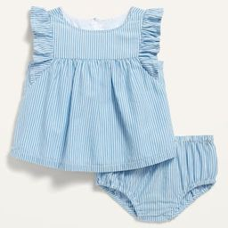 Striped Flutter-Sleeve Top and Bloomers Set for Baby   Old Navy (US)