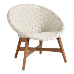 Round All Weather Wicker Vernazza Outdoor Chairs Set Of 2 | World Market