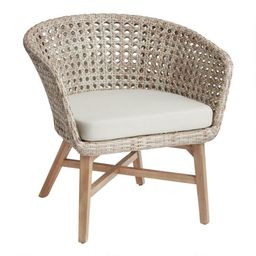 All Weather Wicker And Acacia Kandis Outdoor Chair | World Market