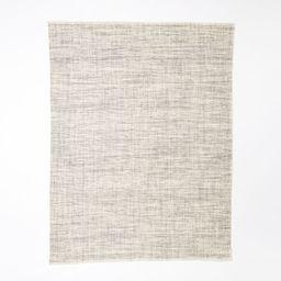 Heathered Basketweave Wool Rug, 8'x10', Steel | West Elm (US)