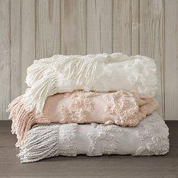 Madison Park 100% Cotton Tufted Chenille Design With Fringe Tassel Luxury Elegant Chic Lightweigh... | Amazon (US)
