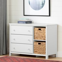 Cotton Candy 3 Drawer Combo Dresser with Cubbies | Wayfair North America