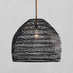 Flora All-Weather Wicker Outdoor Pendant   Pottery Barn (US)