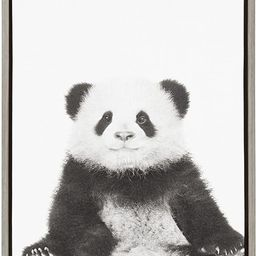 Kate and Laurel Sylvie Panda Animal Print Black and White Portrait Framed Canvas Wall Art by Simo... | Amazon (US)