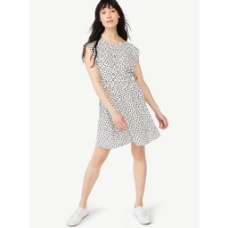 Free Assembly Women's Flutter Sleeve Mini Dress | Walmart (US)
